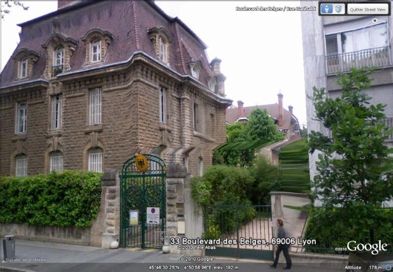 Les ambassades étrangères en France vues depuis Google Earth Allema11