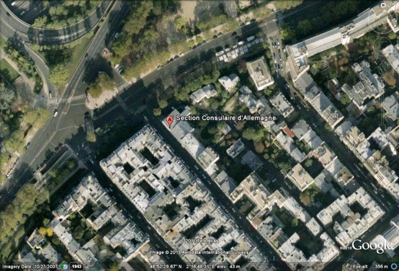 Les ambassades étrangères en France vues depuis Google Earth Allema14