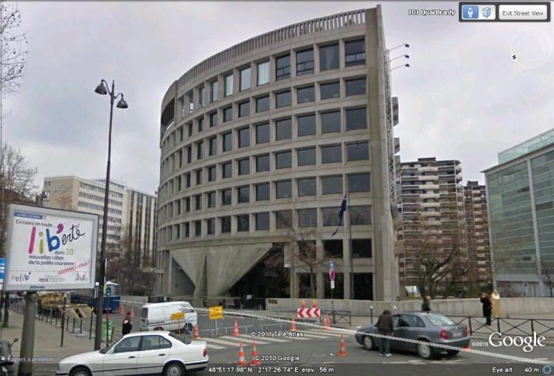 Les ambassades étrangères en France vues depuis Google Earth Austra10
