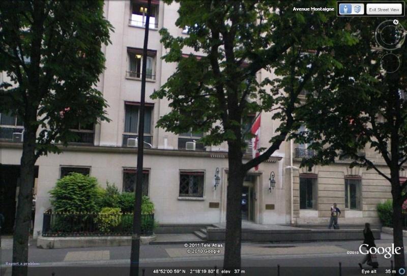 Les ambassades étrangères en France vues depuis Google Earth Canada10
