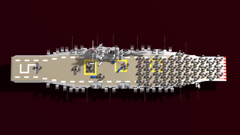 Porte avions en Lego CV05 Panthere Plan0510
