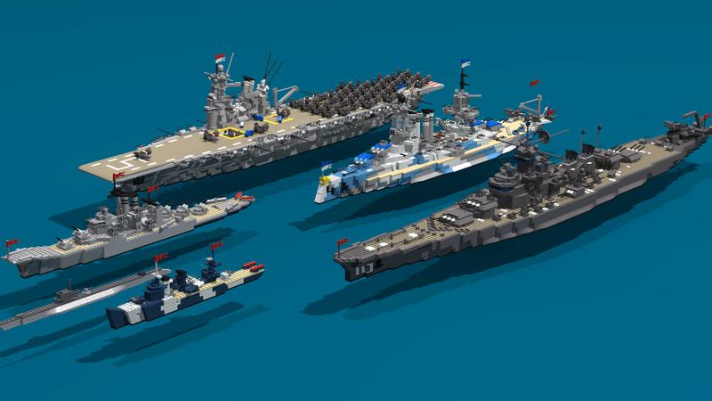 Porte avions en Lego CV05 Panthere Task_f10