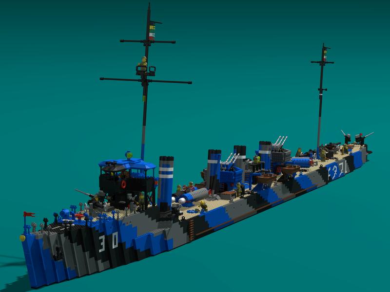 Porte avions en Lego CV05 Panthere Umikaz10