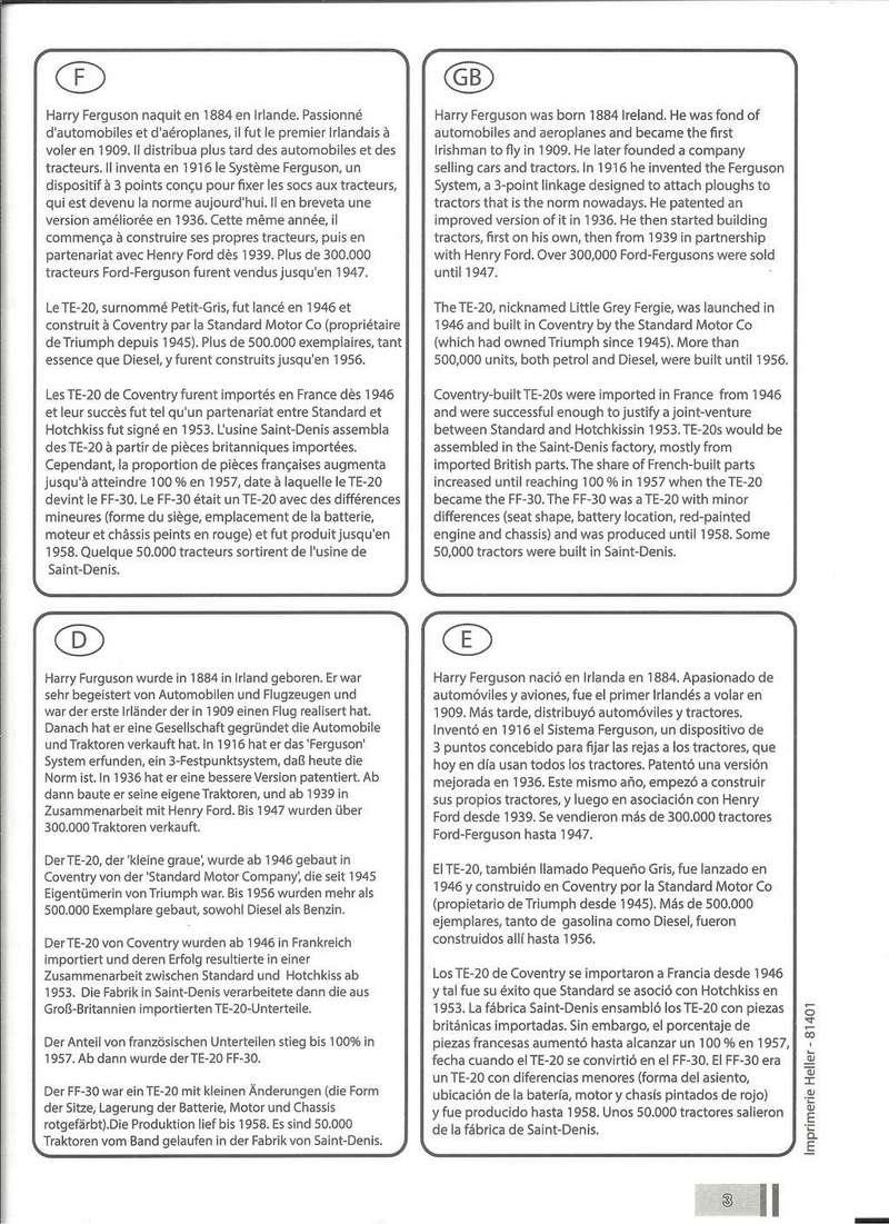 COFFRET LEGENDE FERGUSSON - (réf. 52323) - MAQUETTE HELLER - Heller34