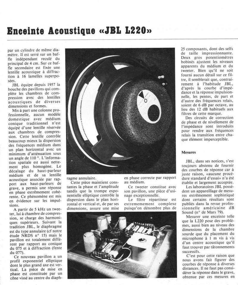 Modèle L 220 Année 1980 Jbl_l211