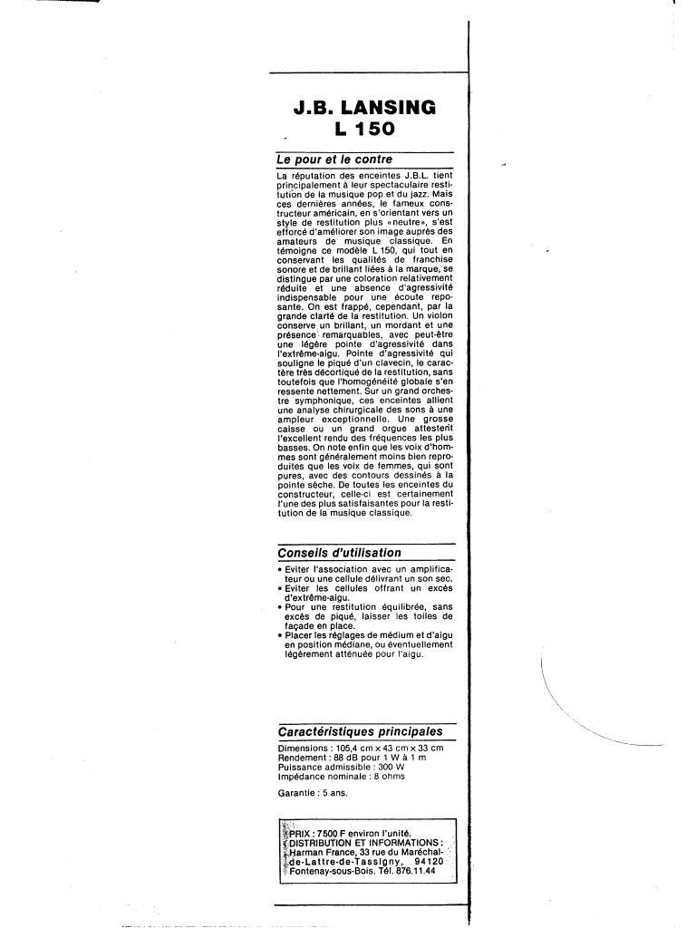 Modèle L150 Année 1979 Previe13