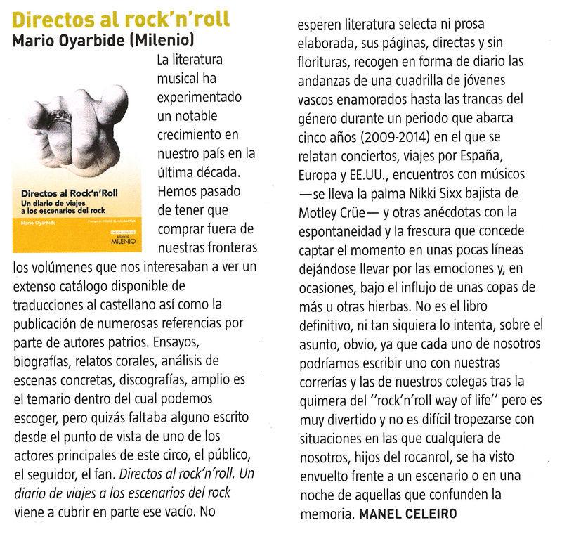 DIRECTOS AL ROCK'N'ROLL (Libro. Editorial Milenio) - Página 4 Reseya10