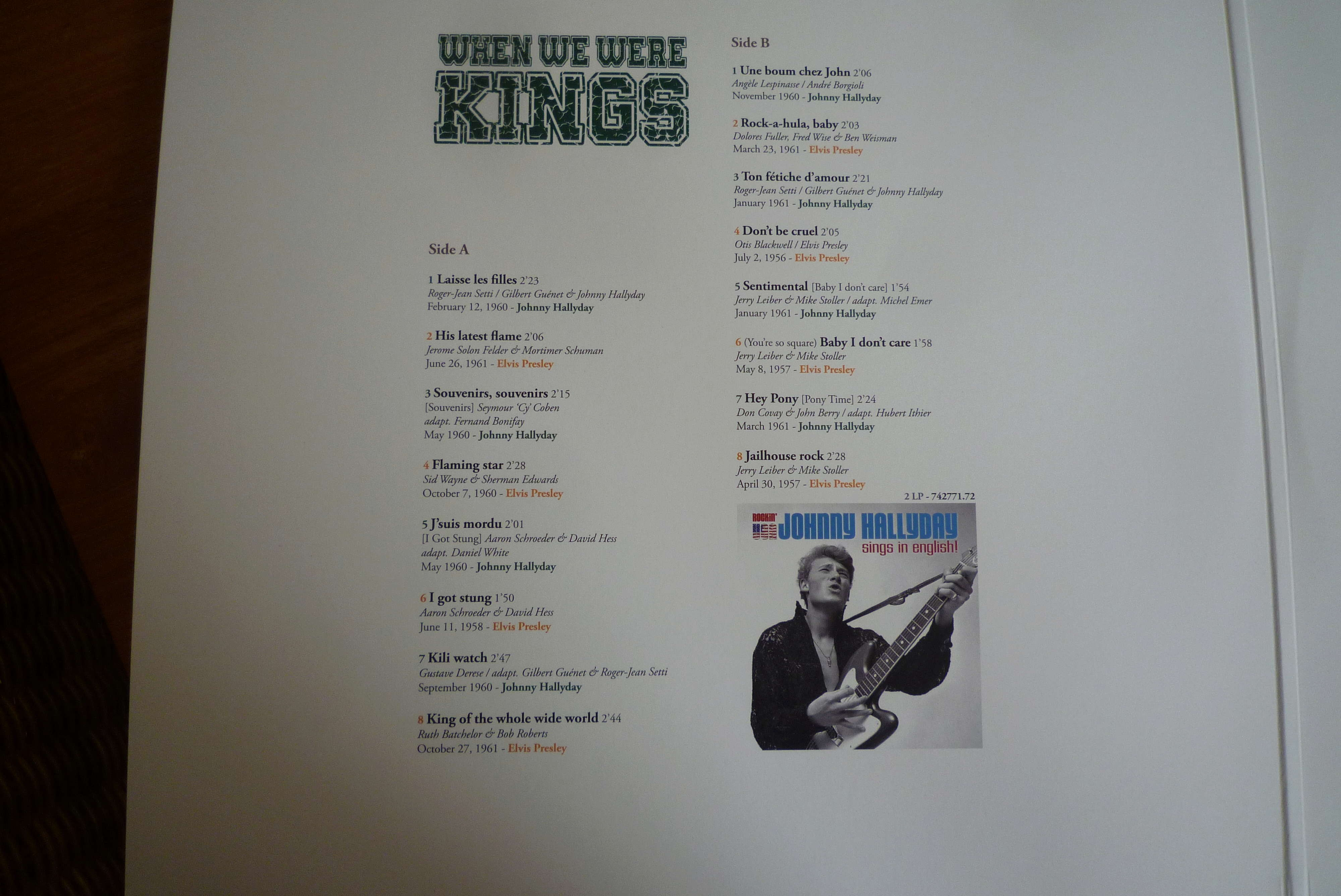 """double 33 tours """"when we were KINGS"""" édité par le chant du monde P1590817"""