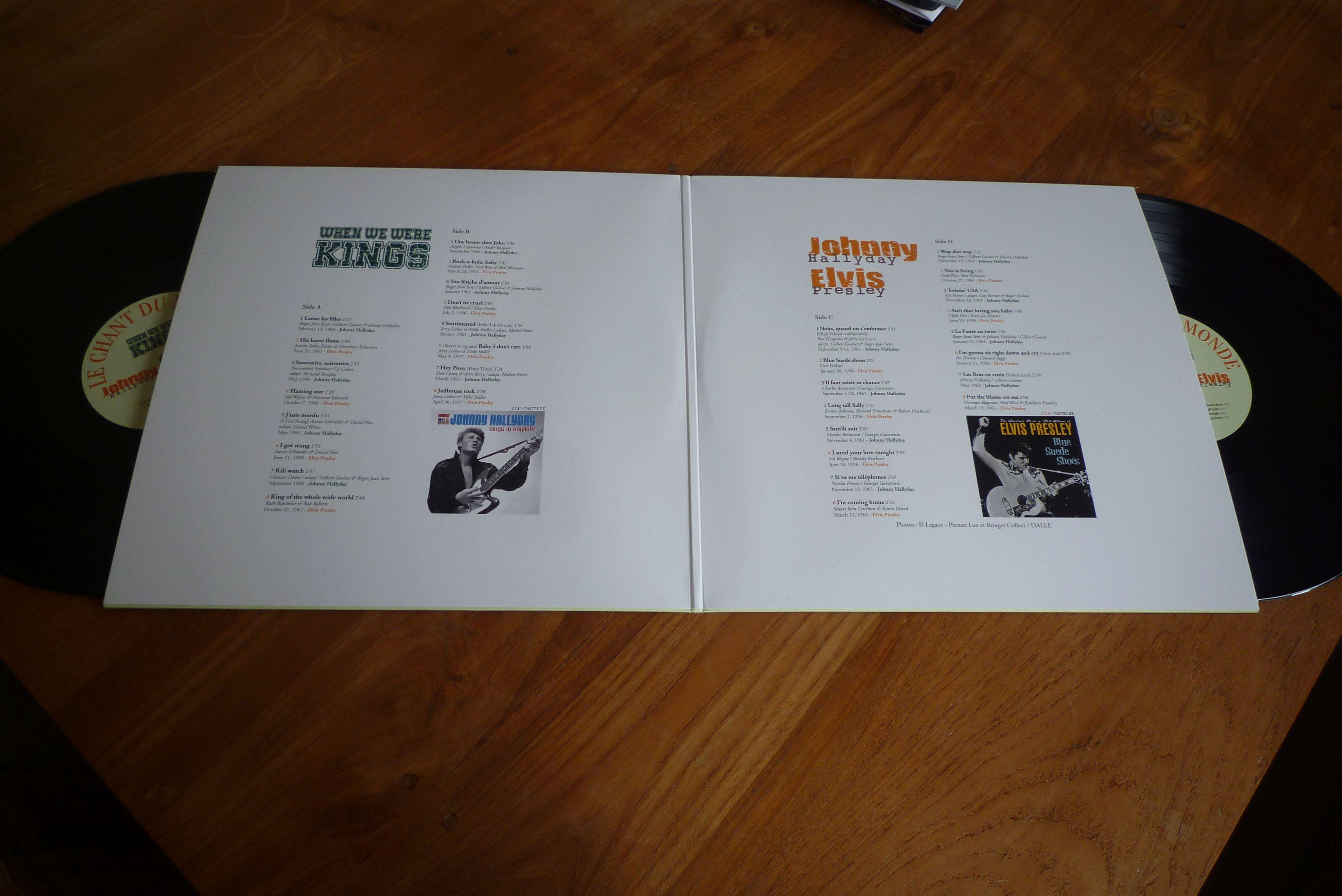 """double 33 tours """"when we were KINGS"""" édité par le chant du monde P1590824"""