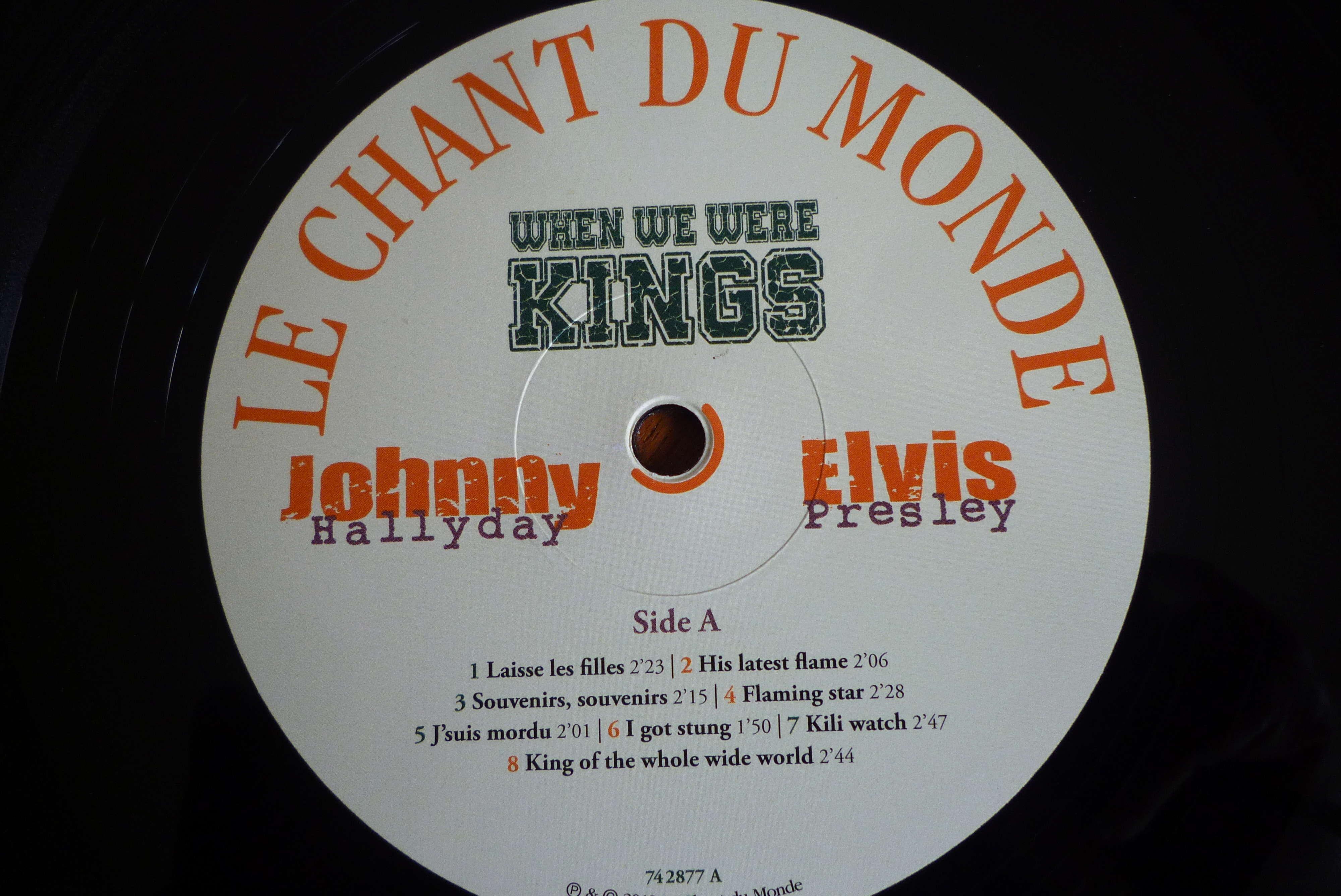 """double 33 tours """"when we were KINGS"""" édité par le chant du monde P1590827"""