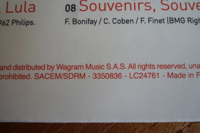 """33 tours """" spirit of Johnny Hallyday"""" édité par Wagram music P1590835"""