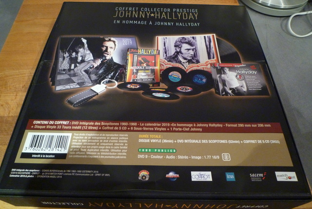 """coffret collector """"JOHNNY HALLYDAY"""" édité par MATCHA P1600435"""