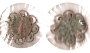 Elément de chapelet et broche - XXème Broche10