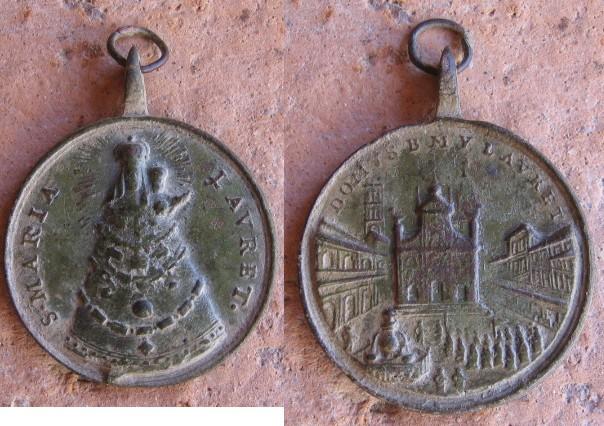 Médaille Pélerinage Notre-Dame-de-Lorette - Italie Marial10