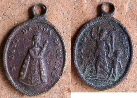 """Médaille """"ND-de-Bon-Secours & l'Ange Gardien"""" - XIXème Med-2910"""