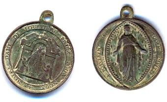 Médaille Notre-Dame-de-Fourvière - XIX / XXème Scann110