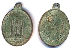 Médaille Notre-Dame-du-Laus - fin XIXème Scann115