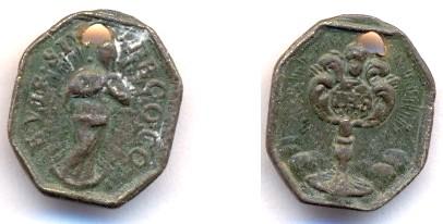 Petite médaille dédiée à l'Immaculée Conception - XVII / XVIIIème Scann123