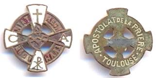 Insigne/broche - Apostolat de la Prière - Toulouse - XXème Scann127