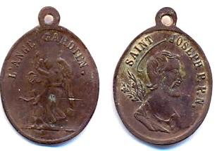 Médaille St-Joseph et l'Ange Gardien - fin XIXème Scann129