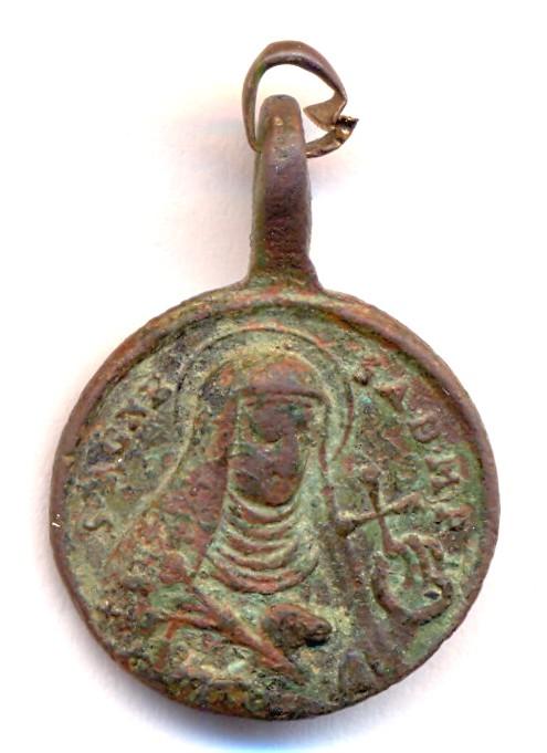 Médaille PIE V et Ste-Agnès Abbesse de Montepulciano - XVII / XVIIIème Scann132