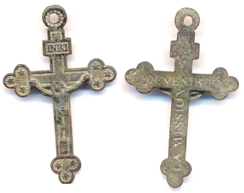 """Crucifix avec étoiles en bout de croix - """"Souvenir La Mission"""" Scann135"""