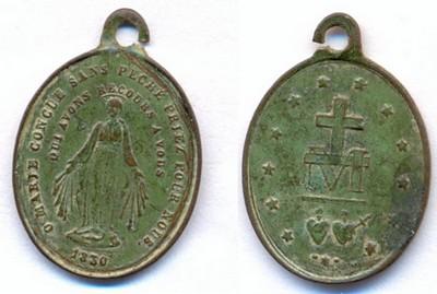 Médaille Rue du Bac - datée (1830)  - fin XIX / début XXème Scann139