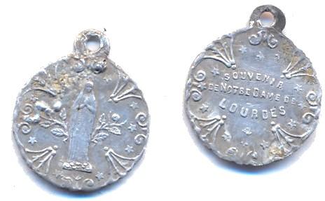 Médaille alu - N-Dame-de-Lourdes Scann148