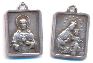 Médaille argent - Jésus et Vierge à l'enfant Scann150
