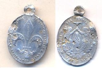 Médaille les trois membres de la Trinité, le Père, le Fils et le Saint Esprit Scanne71