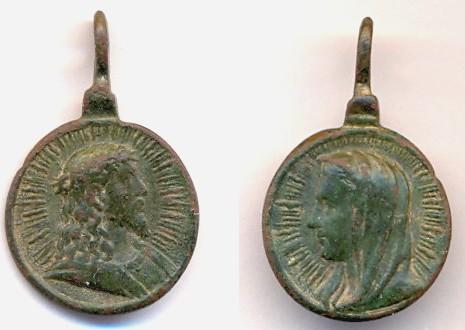 "Médaille Jésus & Marie - type ""Salvator Mvndi"" - XVIIème (1) Scanne77"