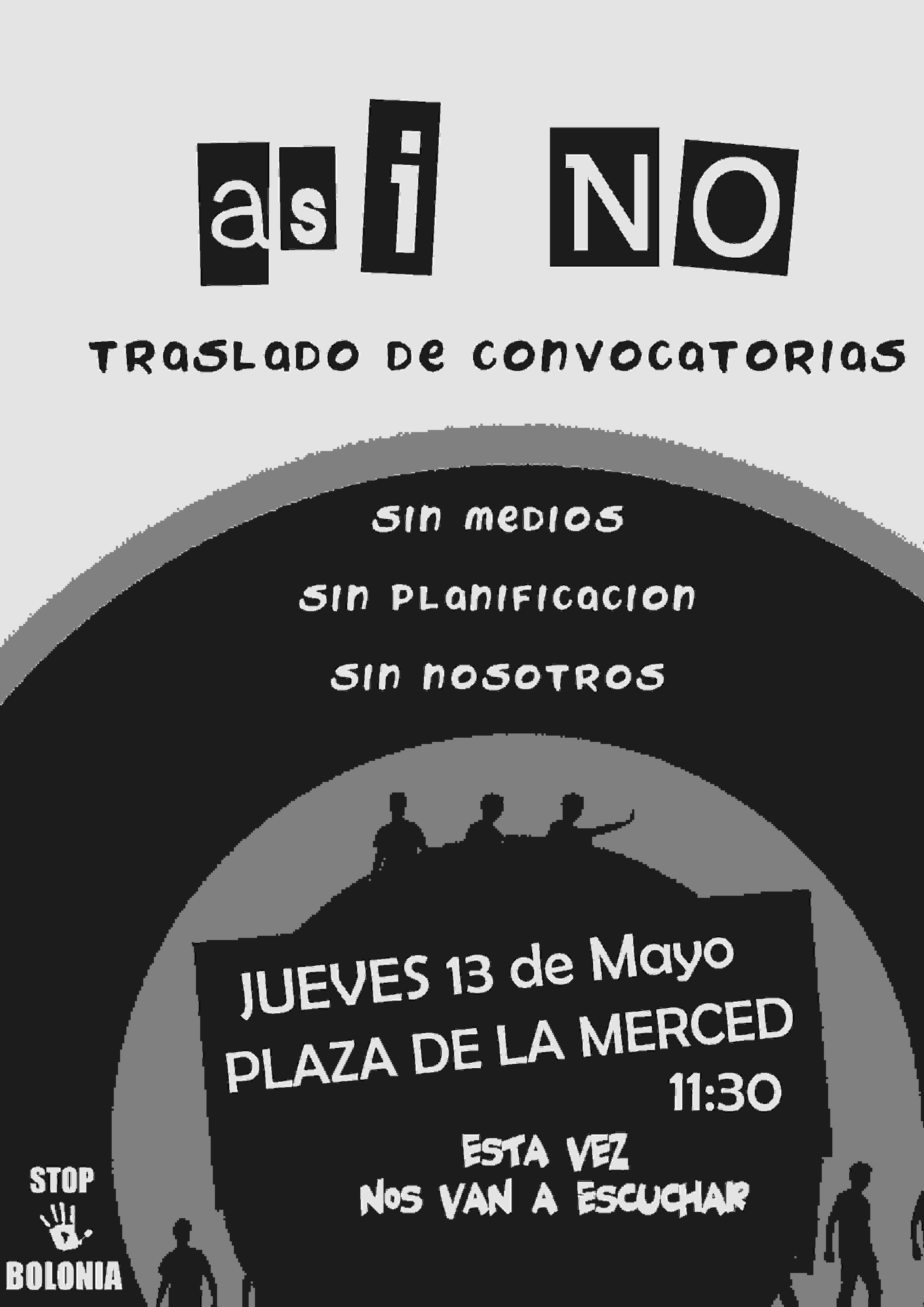 DIFUSIÓN DE LA GRAN MANIFESTACIÓN DEL JUEVES 13, NECESITAMOS VUESTRA AYUDA Modelo10
