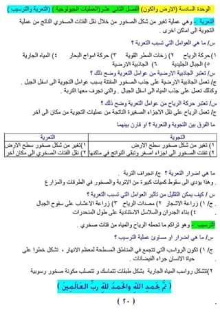 ملخص مادة العلوم للصف الخامس الابتدائى  2010