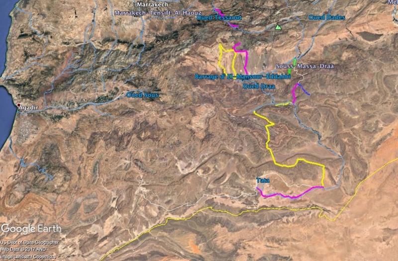 Maroc - Raid dans le Saghro Carte12