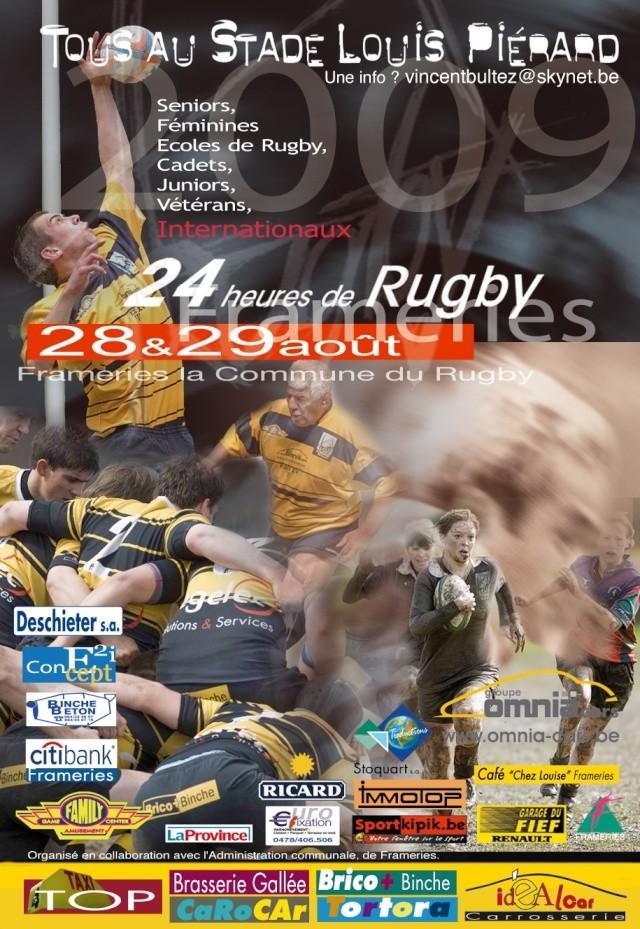 à Frameries les 28 et 29 août pour les 24h du rugby Framer10