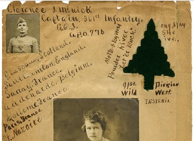 Scrapbook / Diary de Clarence J. MINICK - 361st Infantry Regiment 9c34