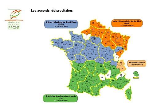 Carte Halieutique Alsace.La Carte De Peche Nationale Ou Presque