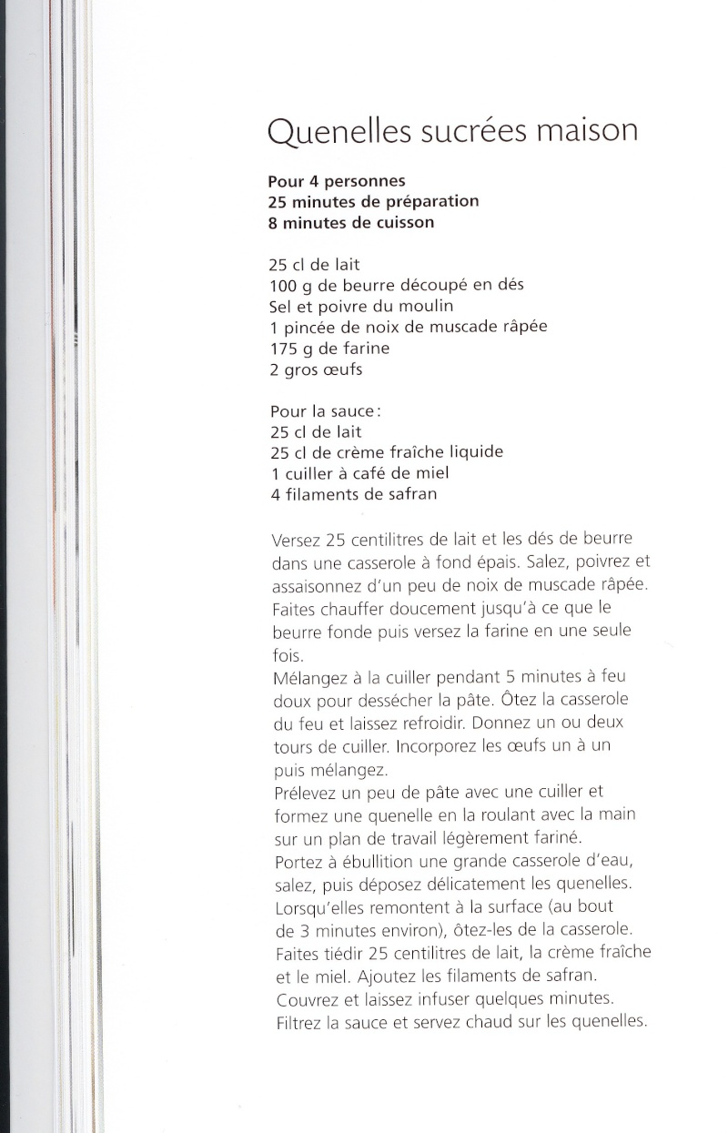 recettes sucrées a base de lait  Quenel10