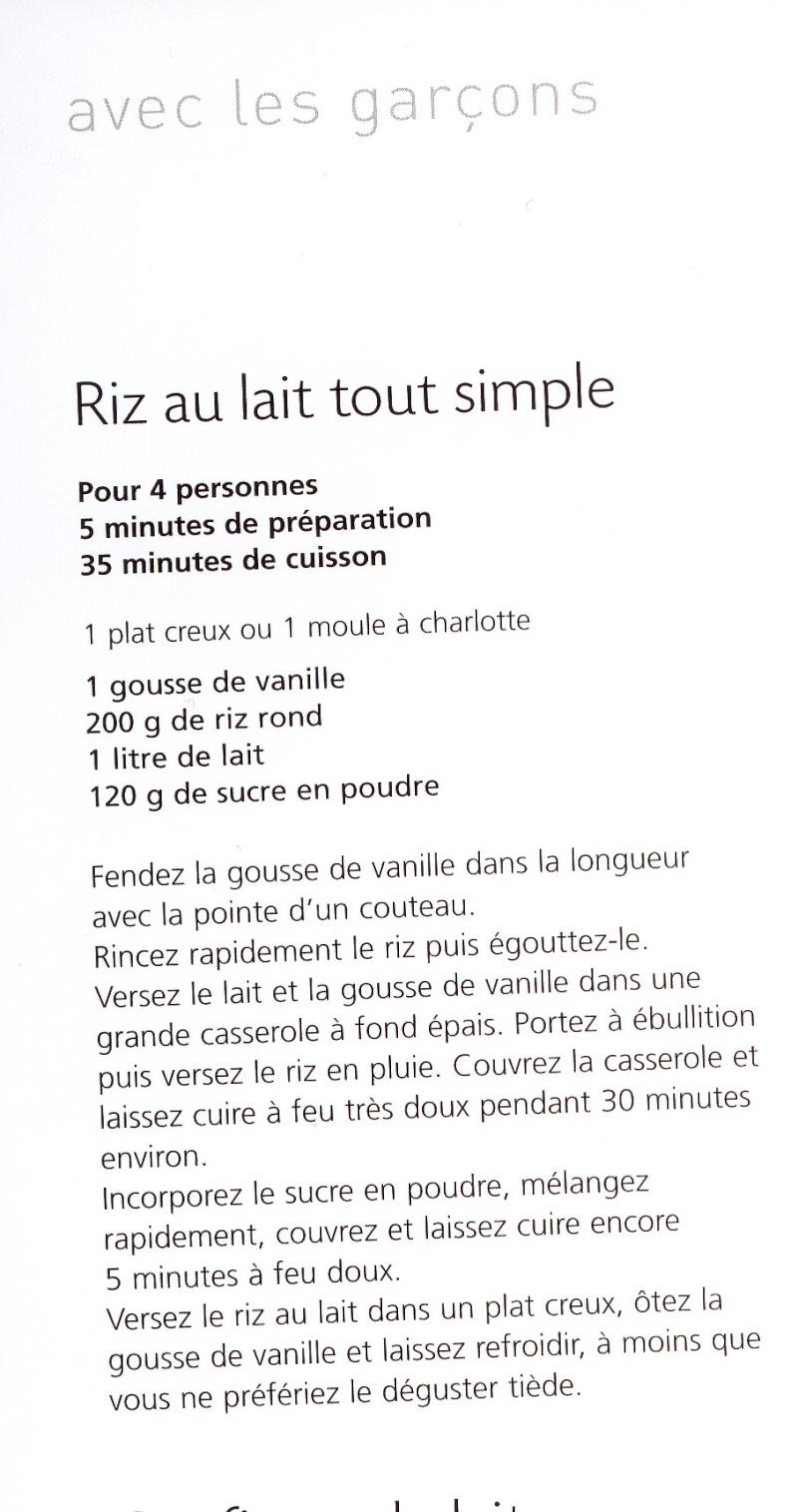 recettes sucrées a base de lait  Riz_au10