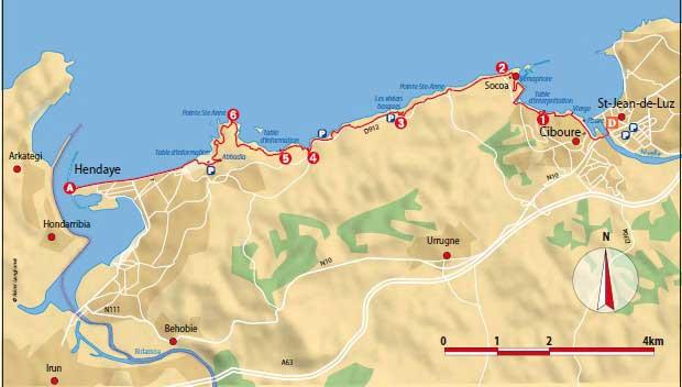 La côte et le pays Basque Sentie11