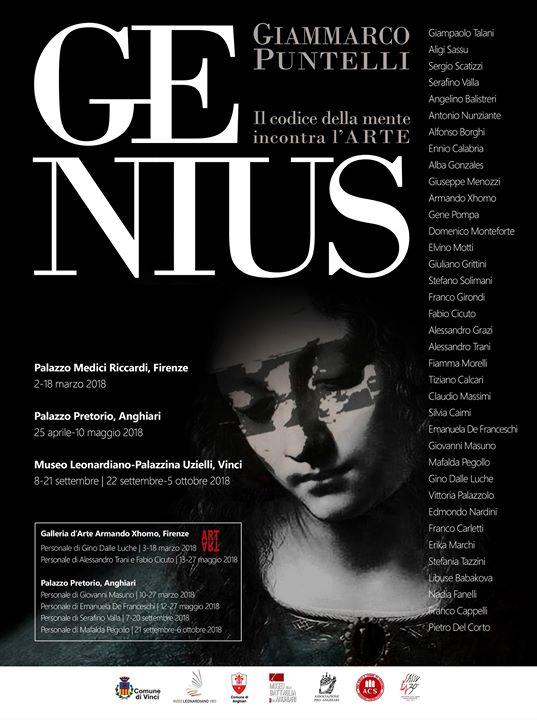 """""""Genius. Il codice della mente incontra l'Arte"""" Dal 2 Marzo 2018 Nunziante a Palazzo Medici, Firenze.  28070710"""