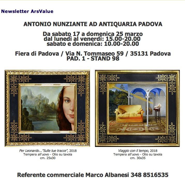Studio Nunziante ad Antiquaria Padova 17-25 Marzo 2018 Nunzi10