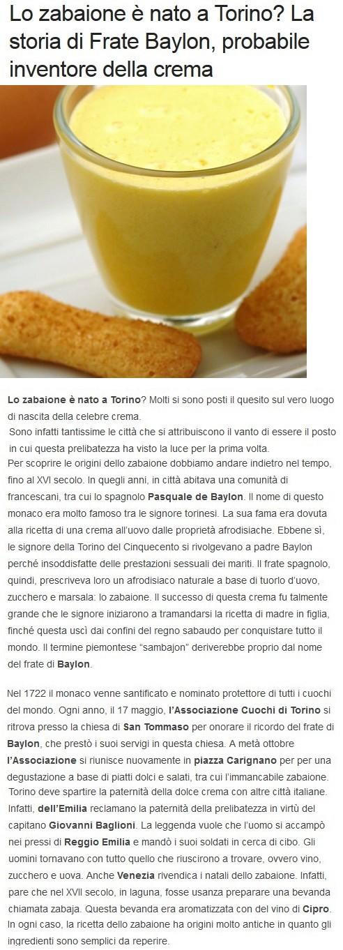 RICETTE dal MONDO Zabaio10