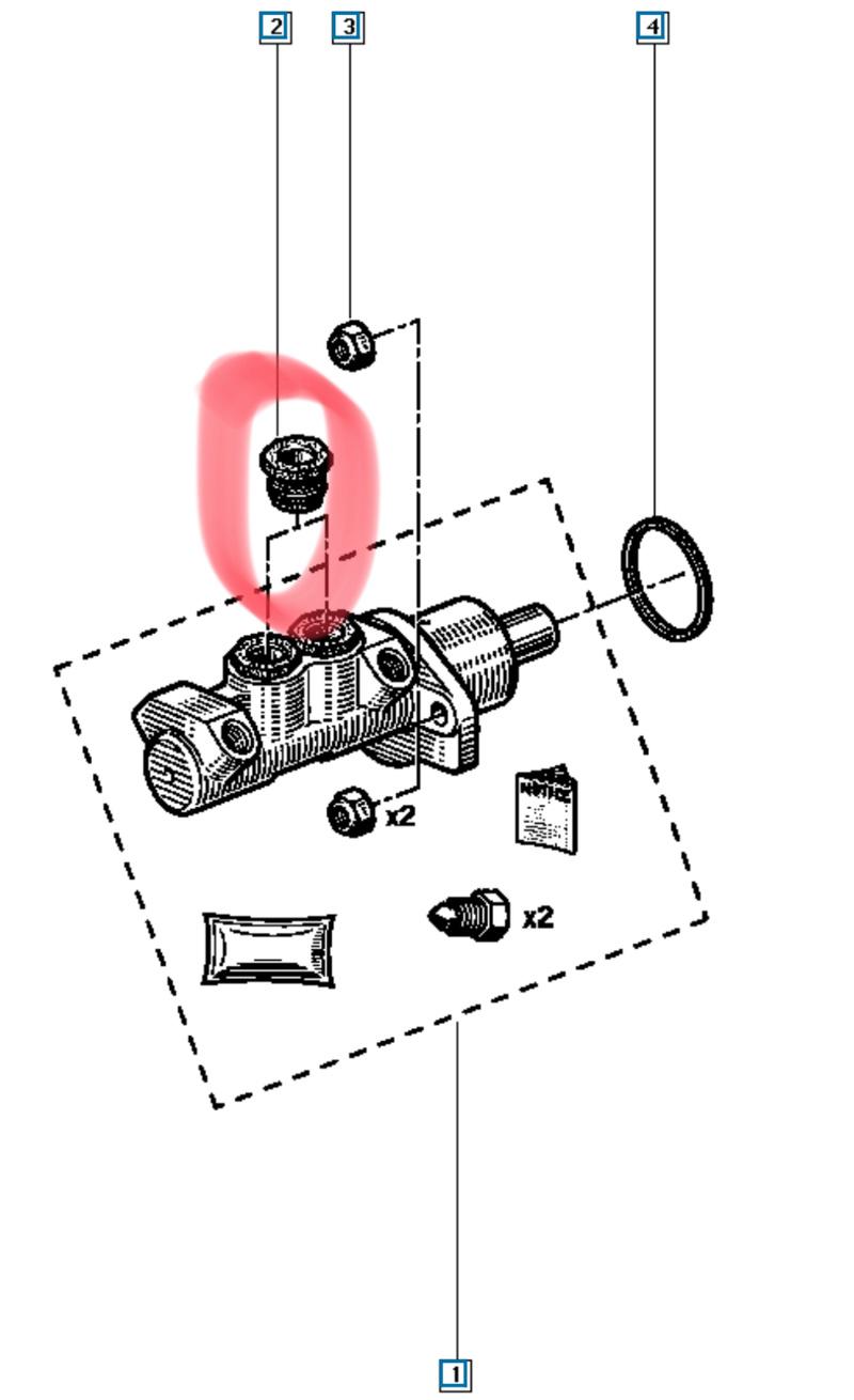 Fuite de liquide de frein sous le maitre cylindre D9ae1010