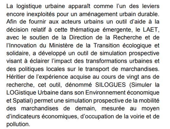 9 Nov 2017 | LYON - Séminaire SILOGUES - Simuler la logistique urbaine Progra12