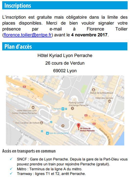 9 Nov 2017 | LYON - Séminaire SILOGUES - Simuler la logistique urbaine Progra14