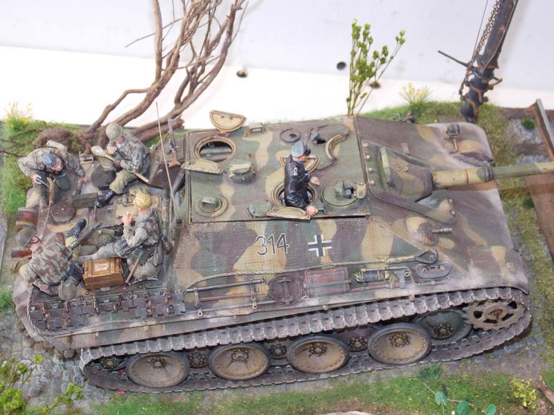 jagdpanther - Jagdpanther sur la voie (dragon 1/35) - Page 3 Dscn6233