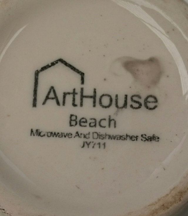 Is Arthouse Beach a New Zealand Pottery?  No it was Made In China. _2018015