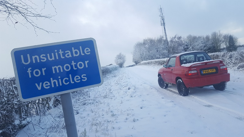 Snow and during in the Vitara 20171211