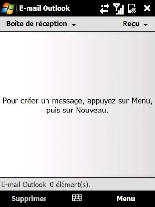 Paramétrage pour récupérer directement ses courriers Hotmail Screen12